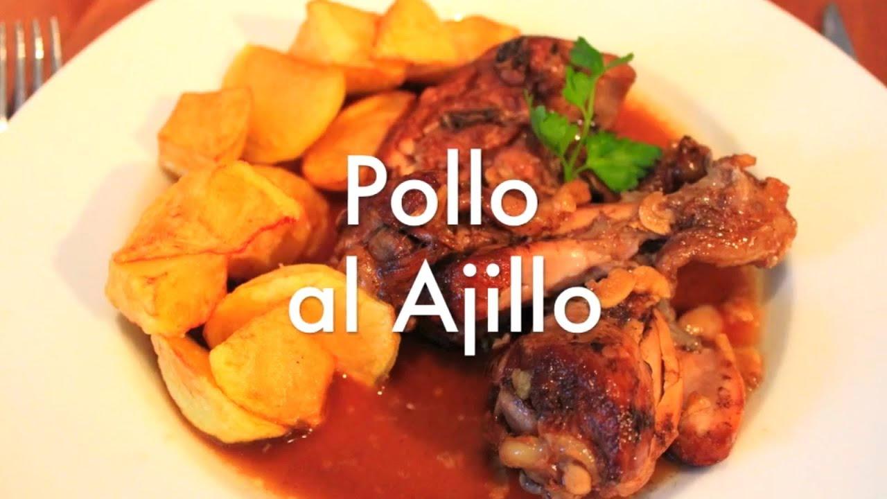 Pollo al ajillo recetas de cocina ligeras youtube for Resetas para comidas