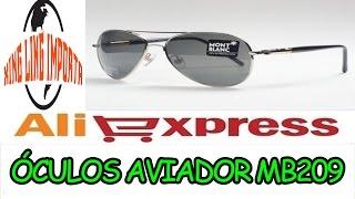 #045 UNBOXING- ALIEXPRESS- ÓCULOS MOUNT BLANC AVIADOR MB209
