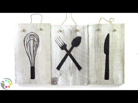 DIY Kitchen Art | Acrylic on Wood Tutorial