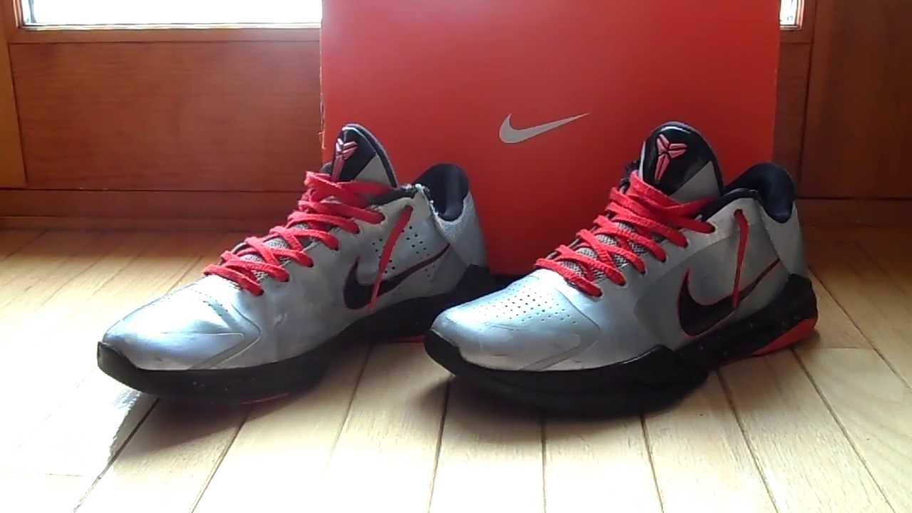 1242f4d3205d Nike Zoom Kobe 5 Wolf Grey Black-Daring Red - YouTube