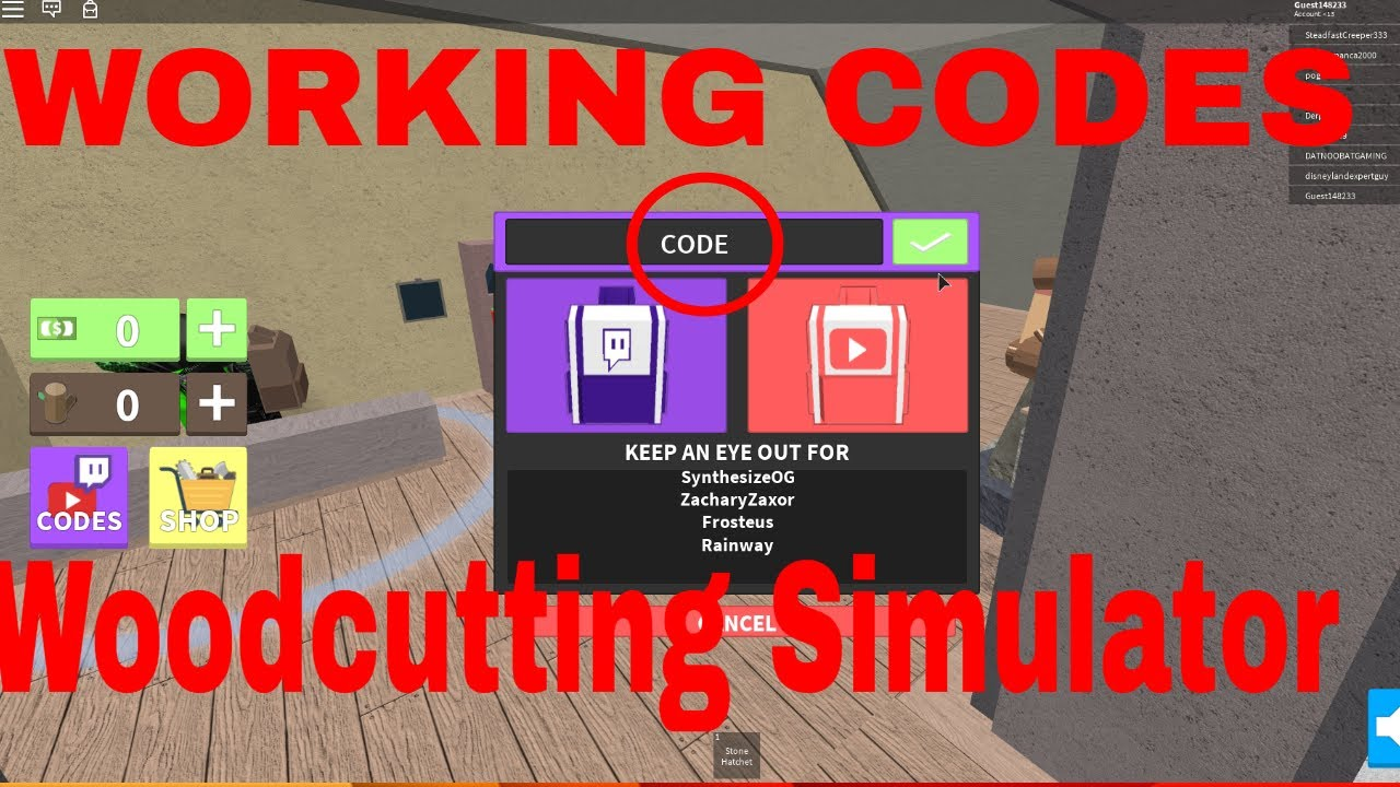 Code Woodcutting Simulator Headstart Backpack Doovi