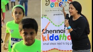 "Surya-Jyothika's Daughter ""Dhiya"" in the Largest Kids Run Competition"