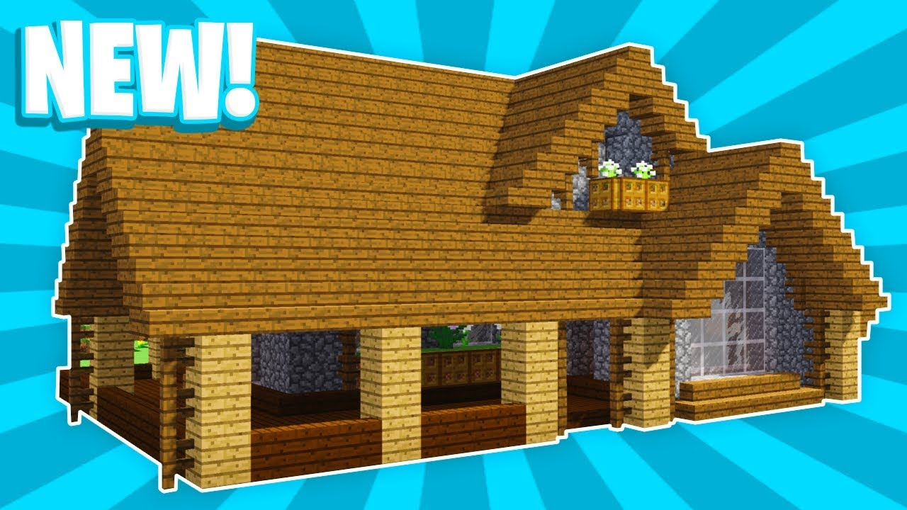 Minecraft How To Build Large Easy Survival Wooden House 1 Pc Xboxone Ps4 Pe Xbox360 Ps3 Youtube
