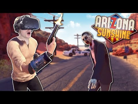 ZOMBIE APOCALYPSE IN ARIZONA?! - Arizona Sunshine Gameplay - VR Zombie Survival Game!