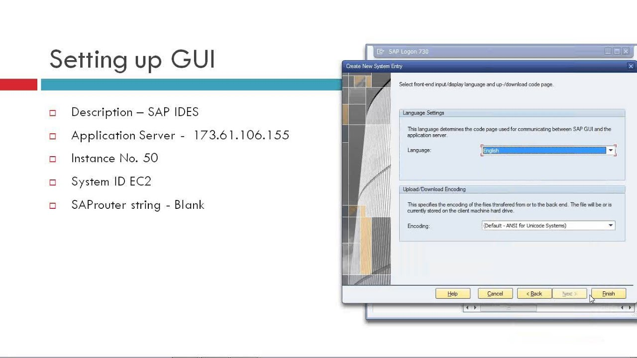 sap gui for mac connection string
