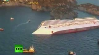 Лайнер 'Costa Concordia' затонул у берегов Италии(Итальянский круизный лайнер Costa Concordia в ночь на субботу сел на мель близ острова Джильо (Giglio) у побережья..., 2012-01-14T14:00:46.000Z)