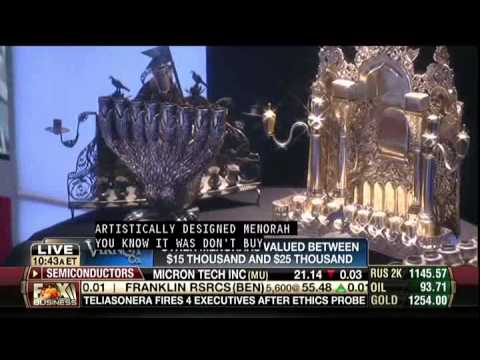 Jonathan Greenstein on Varney & Co About Expensive Hanukah Menorah Investments