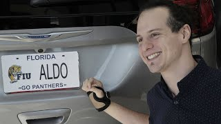 Aldo Amenta, an FIU College of Engineering and Computing graduate gets a special vehicle