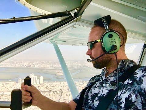 My 1st Flying Lesson in Ras al Khaimah, UAE's most beautiful Emirate!