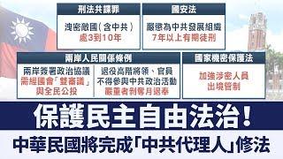 防共碟!守護民主!中華民國立法院即將完成「中共代理人」修法|新唐人亞太電視|20190712