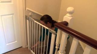 Lindam Pressure Fit Stair Gate - Customer Review Video | Naomi Babysecurity