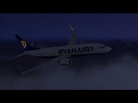 Wrocław to Belfast (Storm Ophelia) - PMDG Boeing 737-800 NGX Ryanair