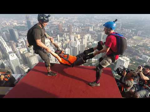 KL Tower 2017 BASE Jump 2017