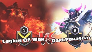 MIXED WAR - Legion Of War X DarkParaguay - BD 20/0/20 - JUST TH11 ATTACKS - CLASH OF CLANS