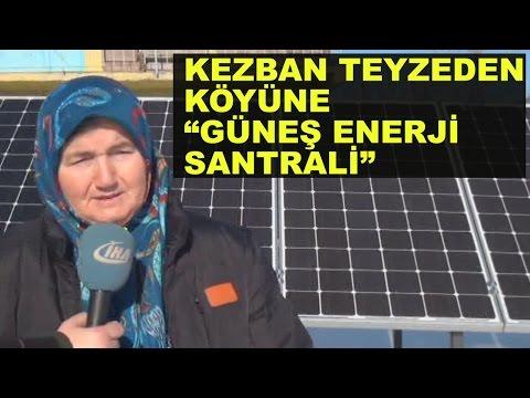Kezban Teyze Köyüne Güneş Enerji Santrali Kurdu
