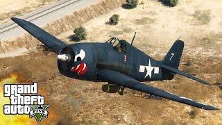 ВТОРАЯ МИРОВАЯ ВОЙНА АВИАЦИЯ #2 - WORLD WAR 2 MOD (GTA 5 Mods)