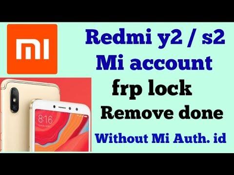 Redmi y2 (M1803E6I) mi account unlock solution By MRT Tool