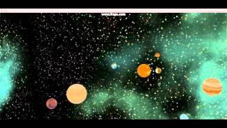 sistema solar feito em unity