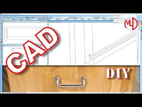 Schubladen selber bauen mit DesignCAD 3D MAX v25 technisches Zeichnen Tutorial Holz Möbel bauen