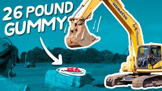 Can You Smash a 26-LB Gummy Bear With a Backhoe?
