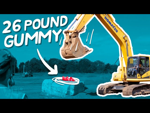 Giant Stress Ball vs. Construction Equipment | Will It Stretch?