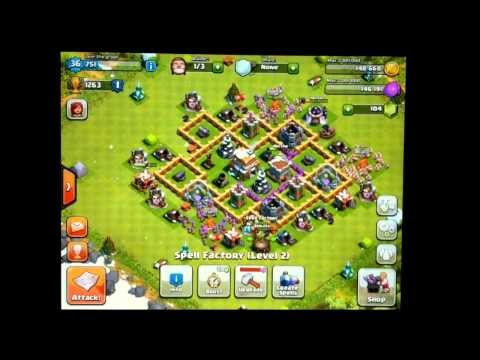 Clash of Clans- Low Level Raiding Strategies Ep. 2 Barbarian Archer Rush