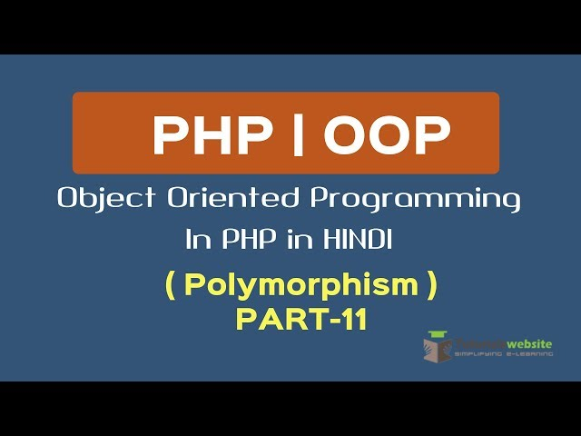OOPS Concept in PHP in HINDI |  Polymorphism | polymorphism in oops with example | Part-11