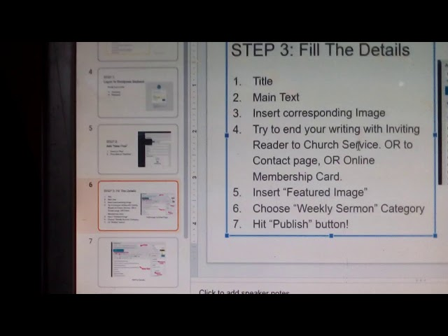 How To Upload Weekly Sermon Notes  - FiciChurch.org