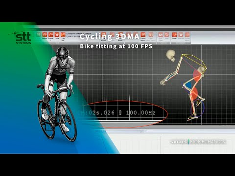Cycling 3DMA - Bike fitting at 100 FPS