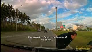 20170522 -  В Сызрани водитель отвез домой пьяного мужчину, который шел по краю проезжей части