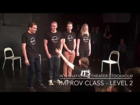 International Theater Stockholm - Improv Level 2 Class Show 2015
