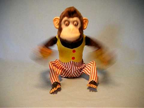 Cool Vintage Monkey Toy With Banging Cymbals