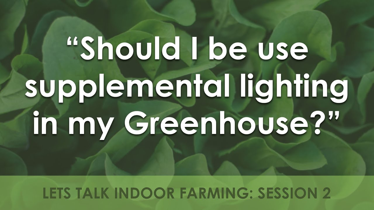 Should I Use Supplemental Lighting In My Greenhouse Farming Indoors