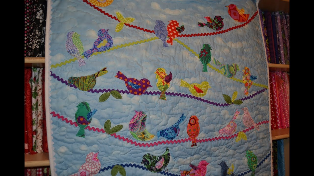 Baby Quilts.com Episode 78 Baby Quilt Bird On Wire Quilt