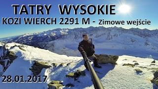 TATRY WYSOKIE - Kozi Wierch 2291 M 28012017 - Zimowe wejcie