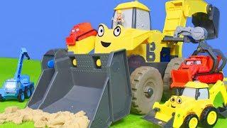 Bagger, Kran, Lastwagen & Spielzeugautos Baustelle | Bob der Baumeister Unboxing deutsch für Kinder