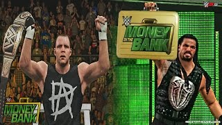 WWE Money in The Bank 2015 - Dean Ambrose Wins WWE Title & Roman Reigns Cashes in MITB!
