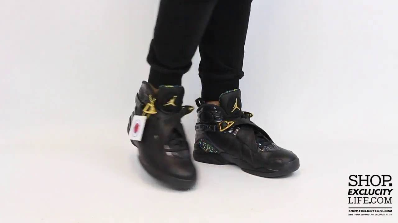 buy popular 80f34 e2313 ... best price air jordan 8 retro cigar champagne black gold on feet video  at exclucity youtube