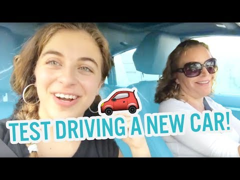TEST DRIVING A NEW CAR - I ALMOST CRASHED!!! | Baby Ariel, Sharone, and Bleu