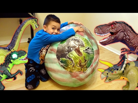 Thumbnail: Dinosaur Mountain Adventure Part 3! Giant Dino Surprise Egg!