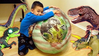 Dinosaur Mountain Adventure Part 3! Giant Dino Surprise Egg!