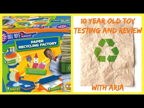 10 year old toy review - Paper Recycling Factory