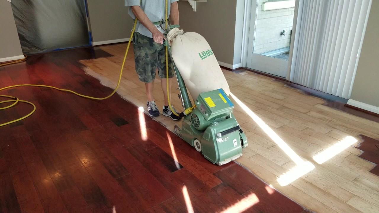 How To Refinish A Hardwood Floor. San Diego Hardwoods.