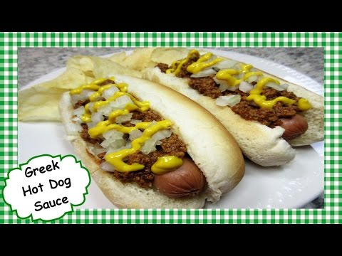 How to Make Greek Hot Dog Sauce ~ Hot Dog Topper Recipe