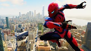 Spider-Man PS4 - Spider Armor MK III Flawless Combat & Free Roam Gameplay