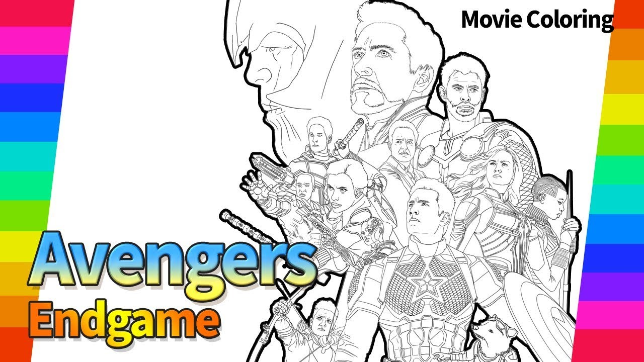 Marvel Avengers End Game The Movie Poster Draw Super Hero