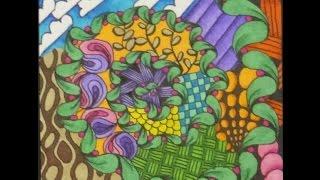 sharpie blended freeform tangle tile tiffany lovering