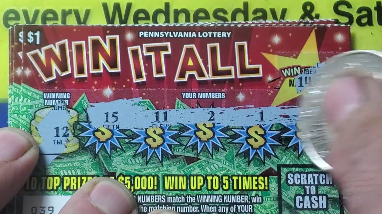 Friday Fast Five.  Win it All.  Lottery Scratch Tickets