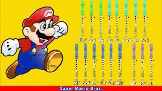 Super Mario Bros. en Flauta Dulce con Notas