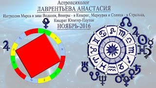 Астрологический прогноз на ноябрь 2016  Астролог Лаврентьева Анастасия